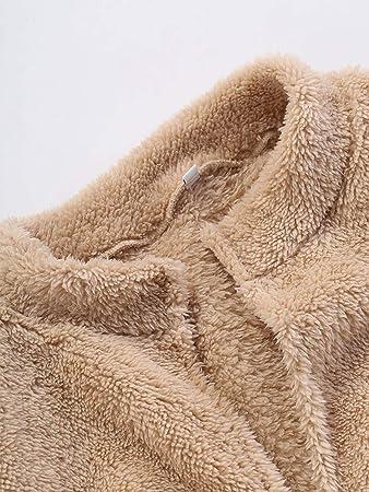 Amazon.com: TIANRUN Womens Fluffy Coat Autumn Winter Plush ...