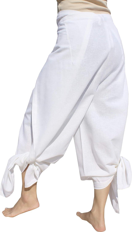 RaanPahMuang Light Striped Cotton Full Panel Retro Wrap Drive in Movie Pants