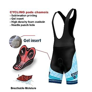"FDX Mens /""Limited Edition/"" Cycling Bib Shorts Gel Chamois Padded Tights shorts"