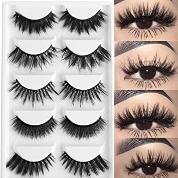 ce5b88ce5c4 3D Mink Hair False Eyelashes Mixed Cross Long Thick Flutter Wispy Natural  Lashe Handmade Makeup Tools