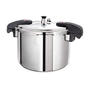 Buffalo QCP412 12-Quart Stainless Steel Pressure Cooker [Classic series]