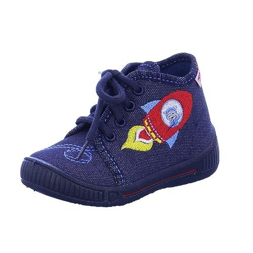 Superfit Niños textiles zapatillas de casa con cordones Cohete en azul ancho M IV: Amazon.es: Zapatos y complementos