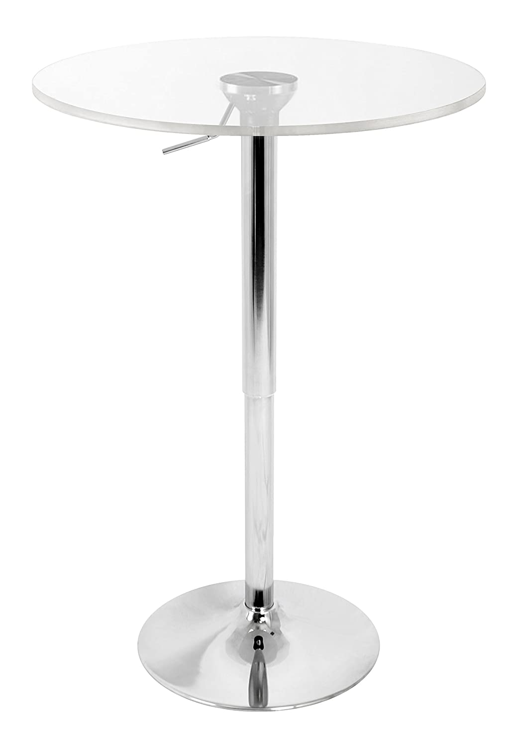 lumisource btadjtw cl adjustable bar table clear amazonca  - lumisource btadjtw cl adjustable bar table clear amazonca home kitchen