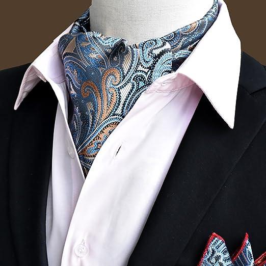 QIANGDA Pañuelo De Seda Hombres Corbata Pañuelo Cuello De Camisa ...