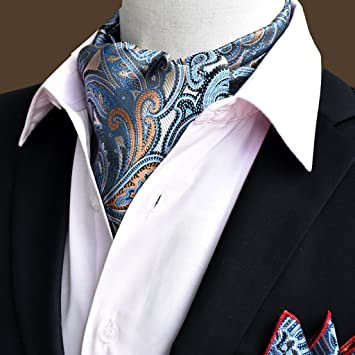 QIANGDA Pañuelo De Seda Hombres Corbata Pañuelo Cuello De Camisa Bufanda De Negocios, 50.4 * 6.3 Pulgadas, 22 Estilos Opcional (Color…