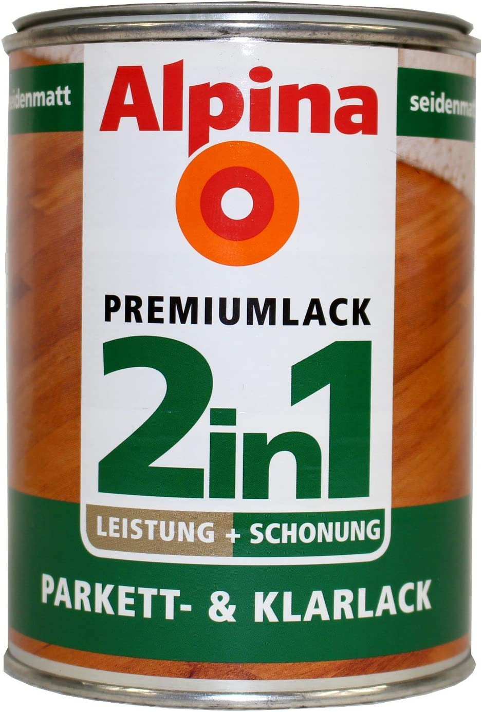 Alpina 2 in1 Laca de parqué & barniz, incolora,., 2 L.: Amazon.es: Bricolaje y herramientas