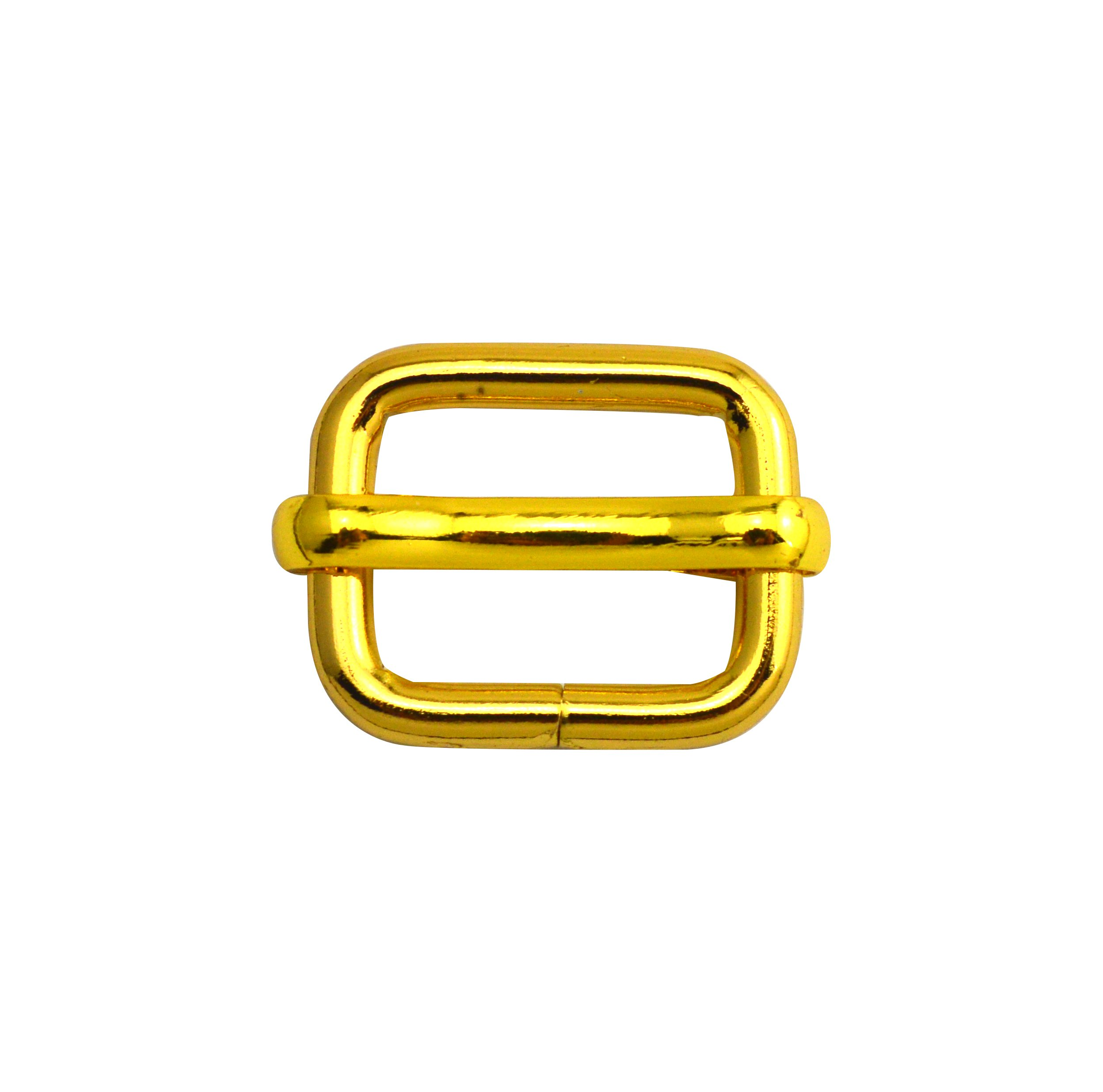 Wuuycoky Golden 0.6'' Inner Length Metal Sliding Bar Tri-Glides Wire-Formed Roller Pin Buckles Slider Pack of 10