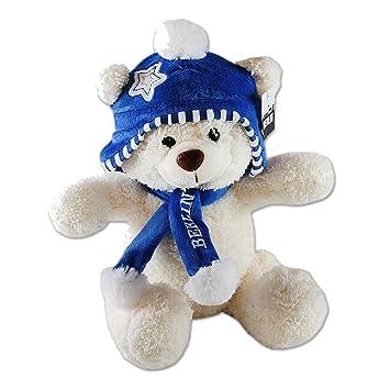 il bianco cappello della dell'orso peluche dell'orso di la in Berlino peluche Orso con 20 e sciarpa di WDE2Y9eHI