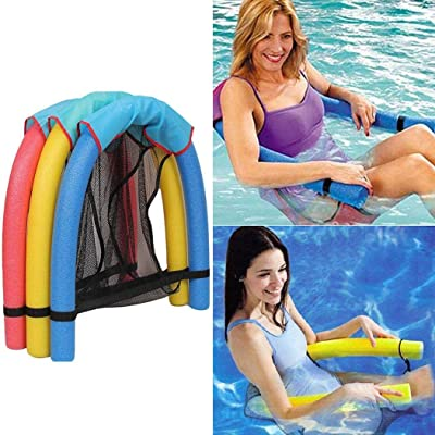 Leoneva 1pc Swimming Pool Float Chair Soft Comfortable Inflatable Seats Throw Rings: Home & Kitchen
