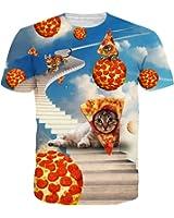 Leapparel Tシャツ メンズ 半袖シャツ 宇宙柄 3Dプリント 個性的 ストリート系 スーポツ トレーニング ジョギング ゆったり 快適 カジュアル 男女兼用 大きなサイズ有り 全57柄展開