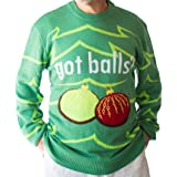 Crazy Holidaze Men's Got Balls Ugly Christmas Sweater