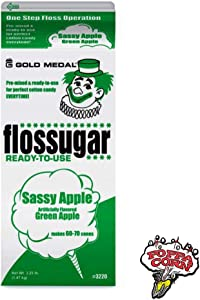 Sassy Apple Flossugar 3.25 lbs by Gold Medal