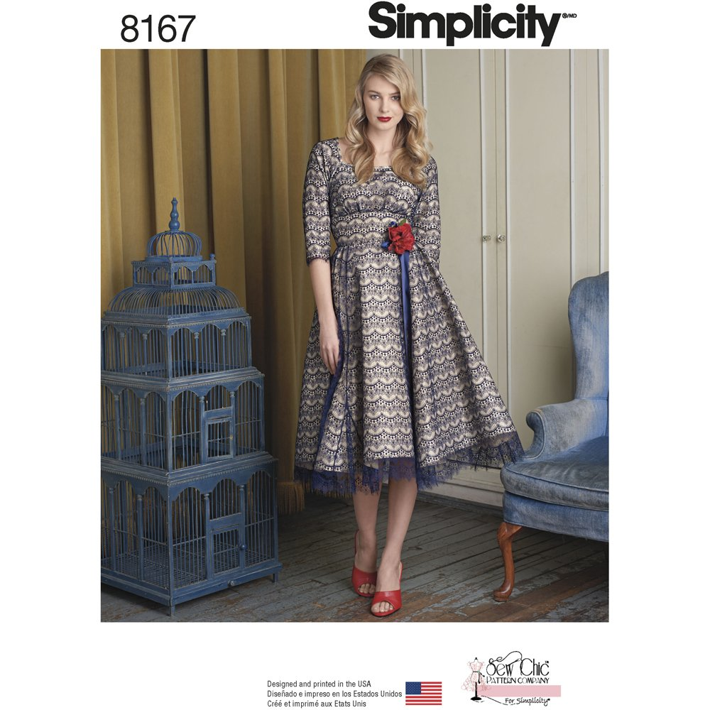 Simplicity 8167 Misses' Sew Chic Dress, P5 (12-14-16-18-20)