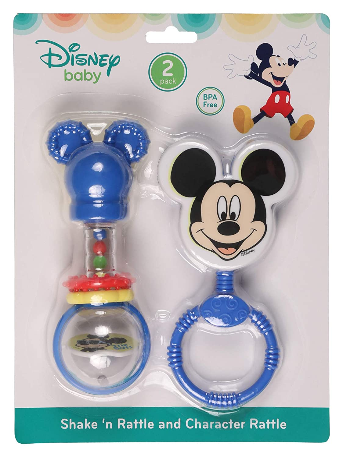 Mickey Disney Mickey Mouse Combo Pack Character /& Barbell Rattle