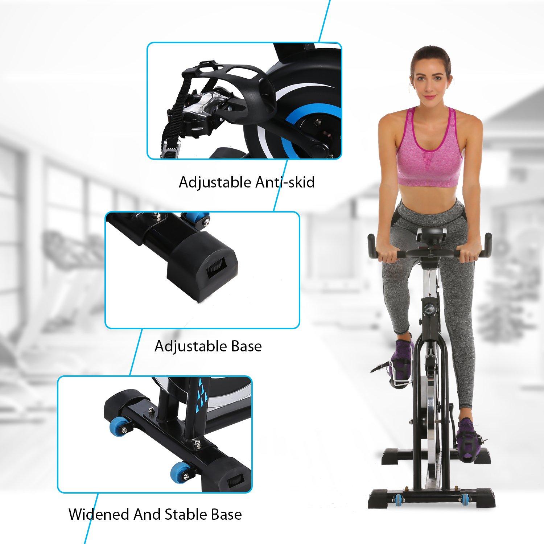 ANCHEER Indoor Cycling Bike, Belt Drive Indoor Exercise Bike with 49LBS Flywheel (Black) by ANCHEER (Image #8)
