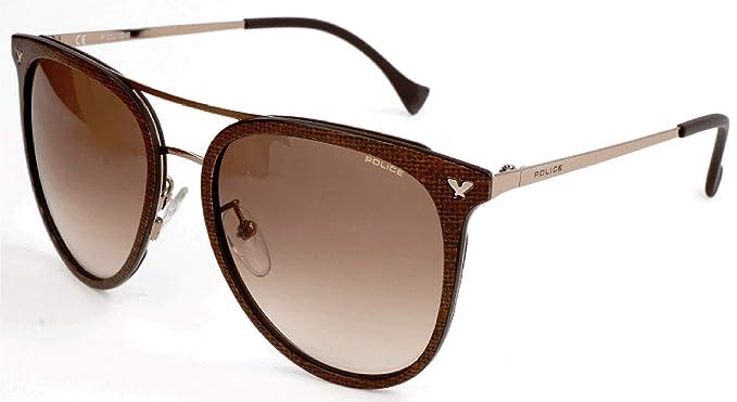 Police Sonnenbrille SPL153N Gafas de sol, Marrón (Braun ...