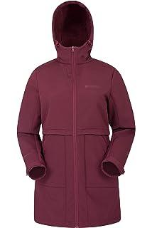 196a35357a3 Mountain Warehouse Arctic Womens Longline Softshell Jacket - Windproof  Ladies Jacket, Adjustable Hood & Cuffs