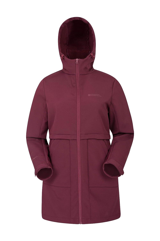 Mountain Warehouse Arctic Womens Softshell Jacket -Longline Warm Coat