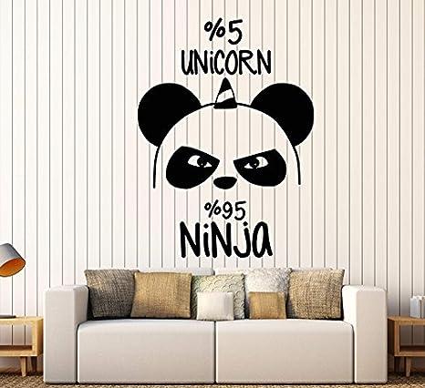 Amazon.com: FirstDecals Vinyl Wall Decal Funny Panda Bear ...