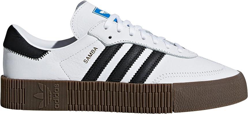 Sin aliento Mediana Penetrar  adidas Samba Blanca y Negra. Zapatillas para Mujer con Plataforma.  Deportivas. Sneaker. (38 2/3 EU, White/Black-Platform 3cm): Amazon.es:  Zapatos y complementos