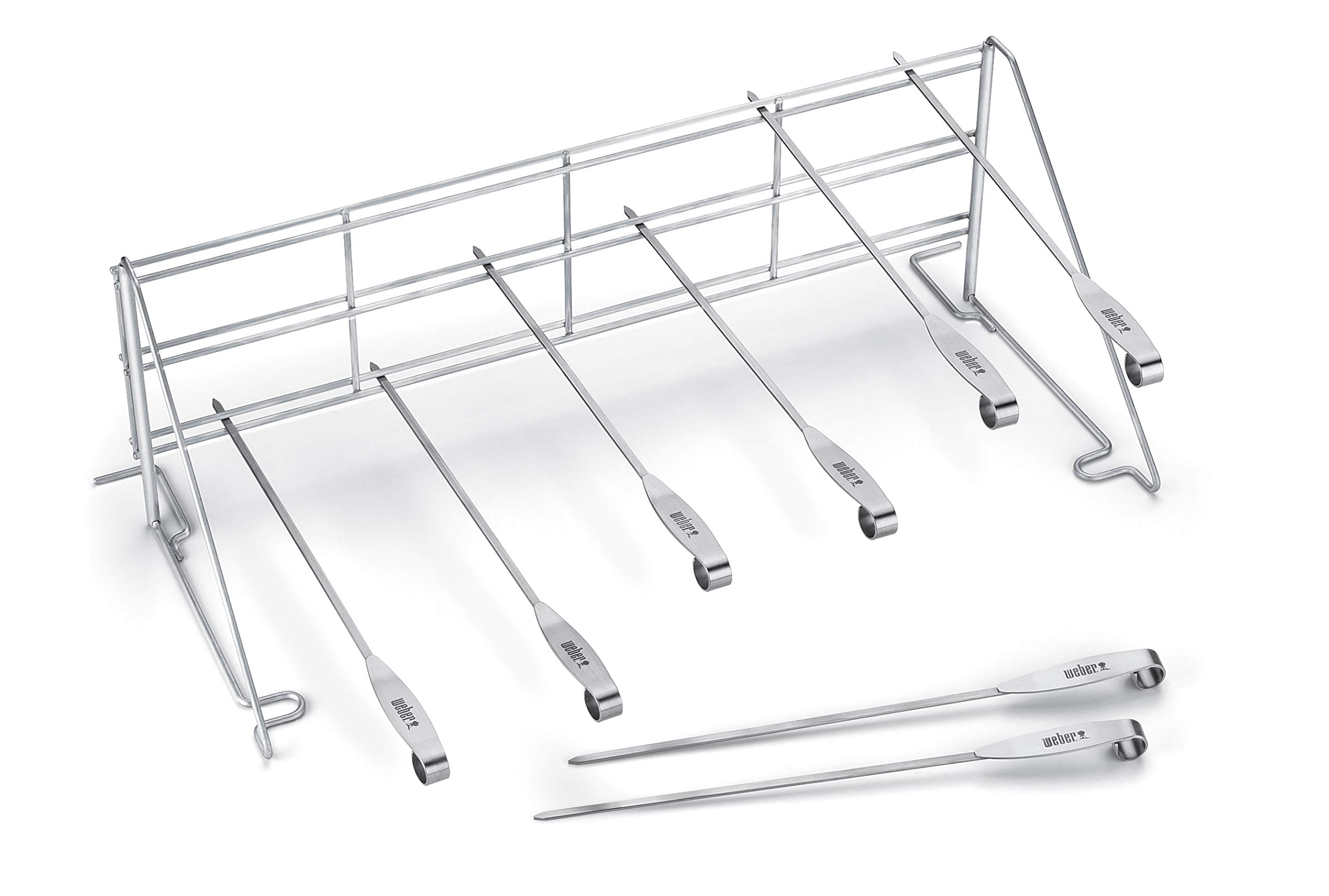 Weber 7615 Elevations Tiered Cooking System Grill Rack and Skewer Set by Weber