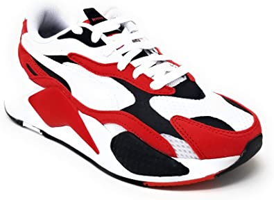 Amazon.com | PUMA RS-X3 Super SS Junior 4.0 White/Red | Sneakers