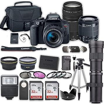 Amazon.com: Canon EOS Rebel T7i - Juego de cámara réflex ...