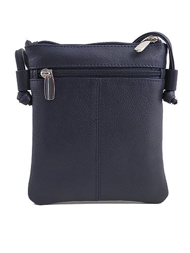 d291256ad8 Arnold   Arnold Ladies Leather Bag - Small Shoulder Bag - 6406 (Navy ...