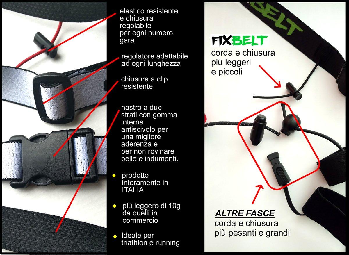 Bianco Fascia elastica gara porta numero triathlon e running