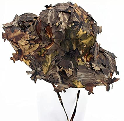 Amazon.com   3D Leaves Camo Ghillie Hats Outdoor Sun Protection ... 50e669eb20b