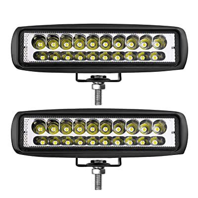 LED Pods Lights, Teochew-LED 2Pcs 80W 6 Inch LED Light Bar Off Road Spot Light Pods Slim Light Bar for Truck Jeep Tractor Golf Cart: Automotive