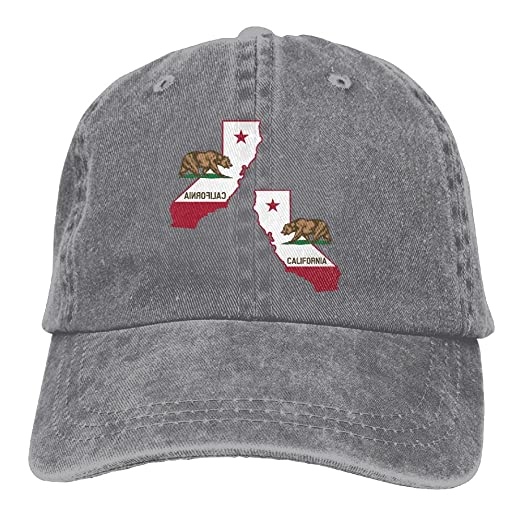 5215dabfb95c2 ... khaki red 6060c closeout mens womens california state flag bear cotton  adjustable peaked baseball dyed cap adult washed cowboy ...