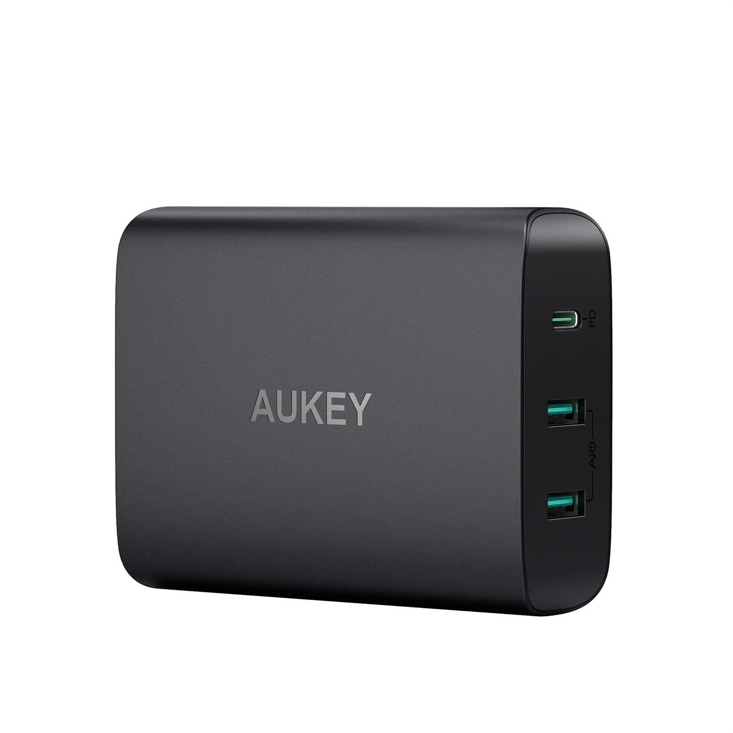 AUKEY USB C Charger with 60W Power Delivery 3.0 & Dual Port USB Charger, Compatible MacBook / Pro, Dell XPS, iPhone XS / XS Max / XR, Samsung Galaxy S8 / S8+ / Note8 and More PA-Y12-US