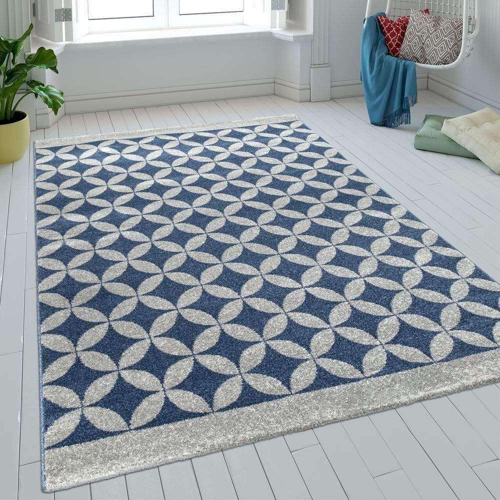 Paco Home Teppich Wohnzimmer Kreise Kurzflor Kreise Wohnzimmer Batik