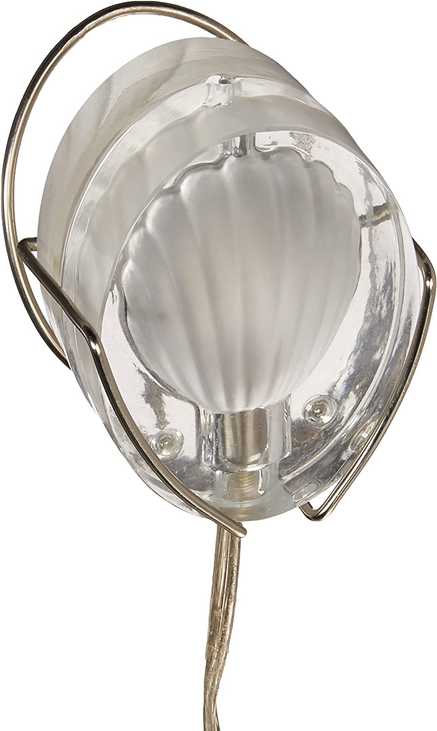 New York Mall Lite Source Max 62% OFF LS-283SHL Table Lamp with Shades Steel Shell Glass
