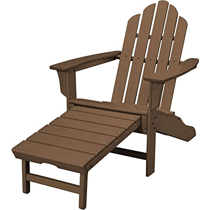 Awesome Hanover Outdoor All Weather Contoured Adirondack Chair With Hideaway Ottoman Teak Machost Co Dining Chair Design Ideas Machostcouk