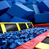 "Foam Pits Blocks/Cubes 1000 pcs. Blue 6""x6""x6"" (1536) Flame Retardant Pit Foam Blocks For Skateboard Parks, Gymnastics Companies, and Trampoline Arenas"