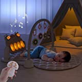 TUMAMA Remote Control Baby Gym Playmats for Infant Musical Floor Play Kick & Piano Activity Play Mat Sleep Soother Sound Mach