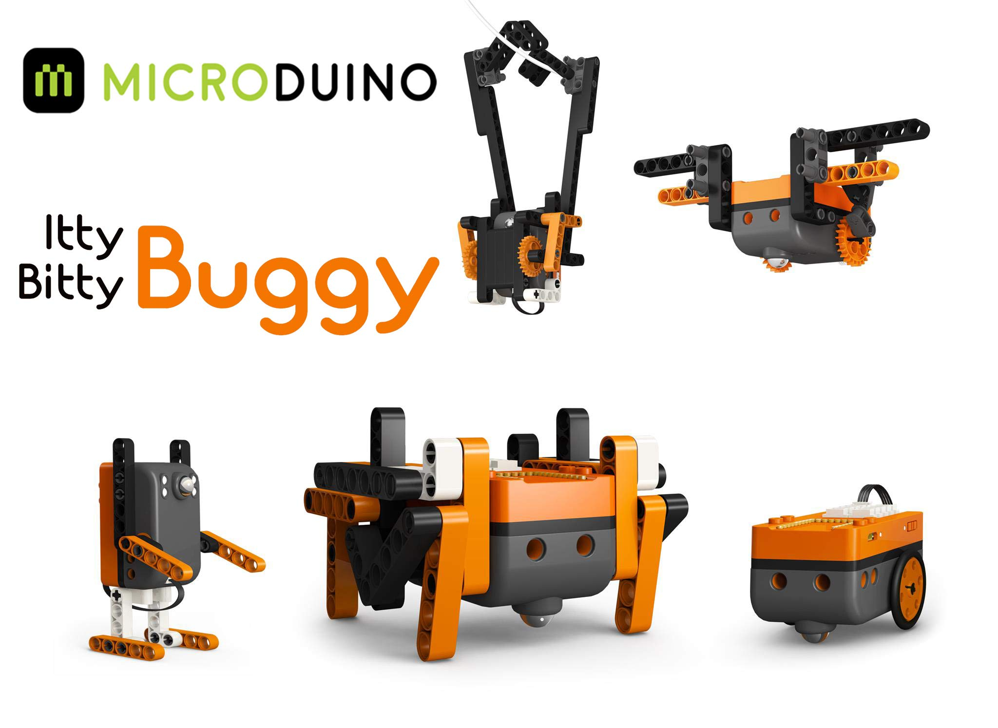 Microduino Itty Bitty Buggy DIY 5-in-1 Programmable Robot STEM Education Toy for Boys and Girls Age 8+ Learn Coding, Robotics and Electronics by Microduino (Image #3)