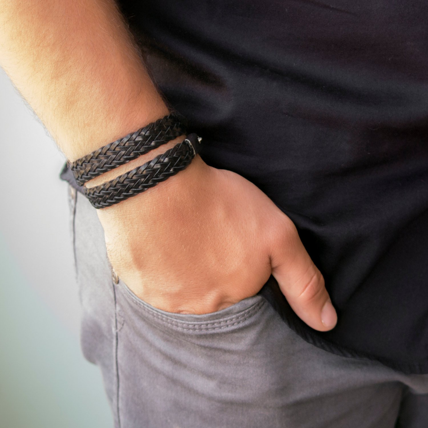 Men's Bracelet - Men's Faux Leather Bracelet - Men's Wrap Bracelet - Men's Jewelry - Guys Jewelry - Guys Bracelet - Jewelry For Men - Bracelets For Men - Male Jewelry - Male Bracelet