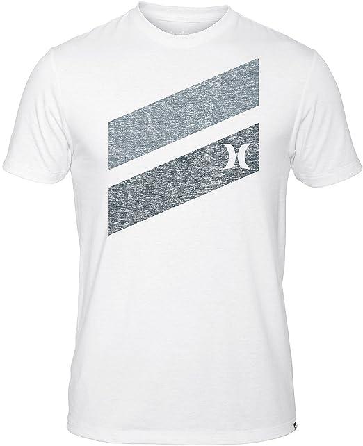 b26b0d291 Hurley Icon Slash Push Thru - Camiseta de Manga Corta para Hombre - Blanco  - Large  Amazon.es  Ropa y accesorios