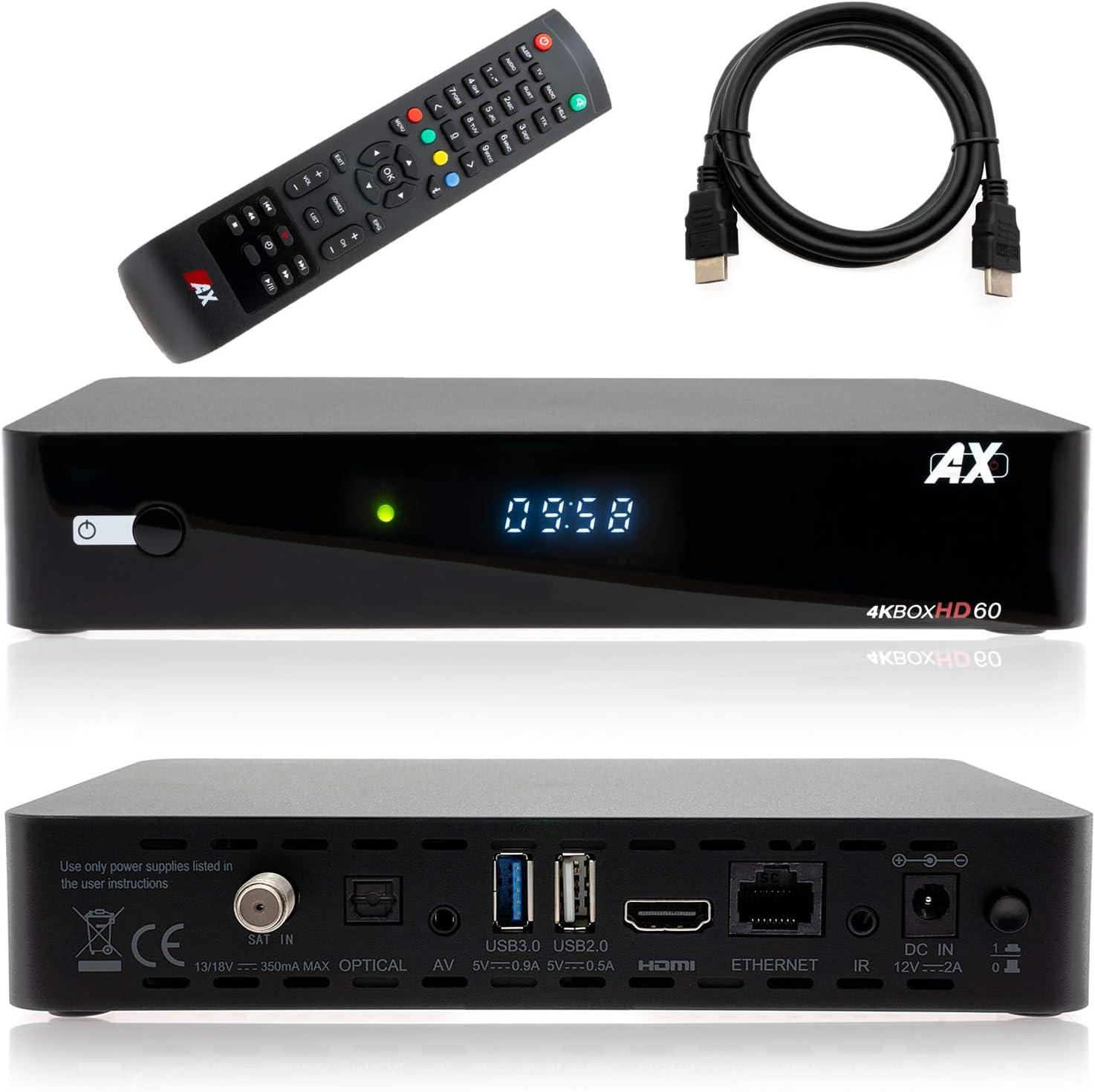 Ax Hd60 4k Uhd 2160p E2 Linux 1x Dvb S2x Satellite Elektronik