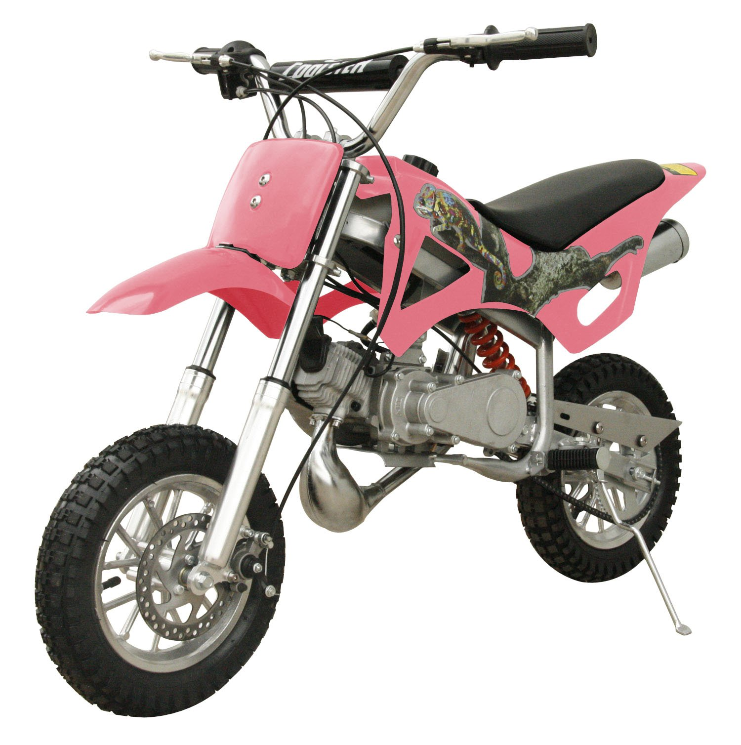 49cc 50cc 2-Stroke Gas Motorized Mini Dirt Pit Bike (Pink) by Flying Horse