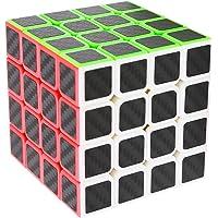 Speed Cube 4x4x4, LSMY Puzzle Magic Cubes Carbon Fiber Sticker Toy