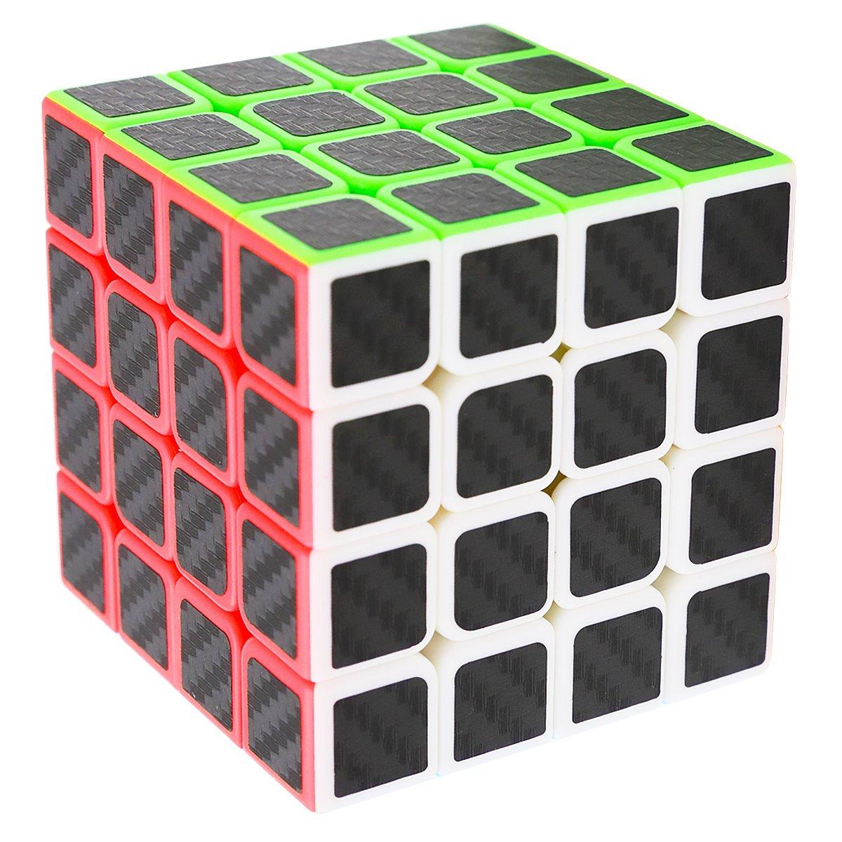 Speed Cube 4x4x4, LSMY Puzzle Mágico Cubo Carbon Fiber Sticker Toy: Amazon.es: Juguetes y juegos