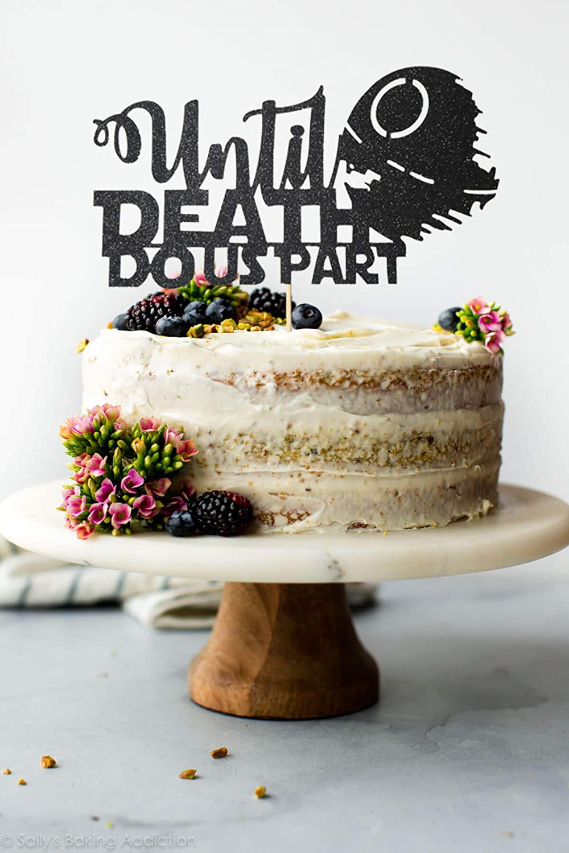 Star Wars Themed Till Death Do Us Part Wedding Cake Topper Until Death Star Do Us Part wedding cake topper