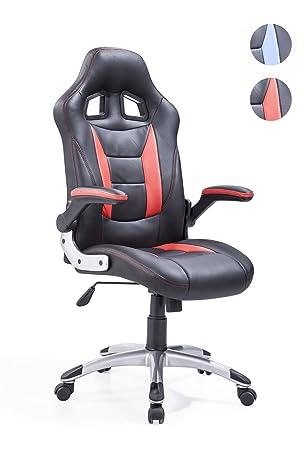 Adec - Silla giratoria Oficina, sillón Escritorio Gaming (Negro y Rojo): Amazon.es: Hogar