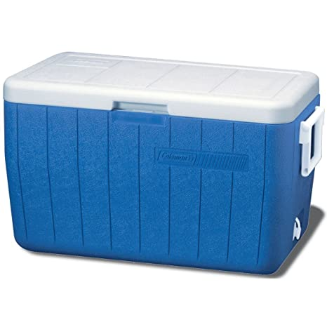 Coleman 3000000152 48-Quart Chest, Hinged Lid, 2-Way Handles, 63 Cans