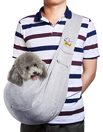 ... Walking Bag · HOPELF Pet Dogs Cats Small Animals Sling Carrier with  Pocket Hands Free Reversible Puppy Outdoor Travel dd75968c97fe1