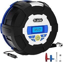 Auto Digital Tire Inflator, Dr.meter Portable Air Compressor Pump, 12V 150 PSI